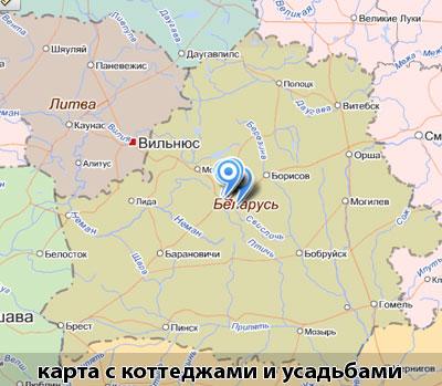 Карта Беларуси (Белоруссии).