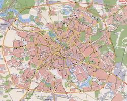 Карта Минска с улицами