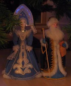 фигурки Деда мороза, Снегурочки